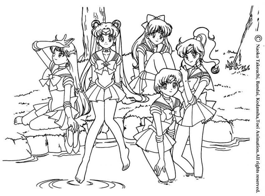 Coloriage manga - Coloriage sailor moon ...